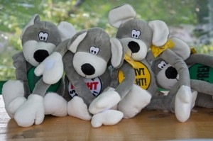 Die Mäuse von der Volksbank - der Hauptgewinn beim Glückrad
