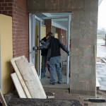 23.02.2015: Einbau der FH-Tür