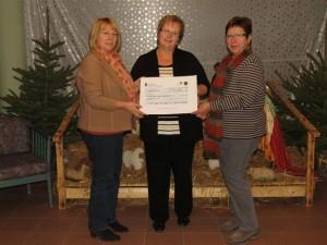 Übergabe Spendenscheck von Maternus - Dezember 2013